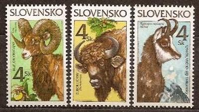 Slovensko 1996 kat.č.Mi257+258+259 / Zb96+97+98