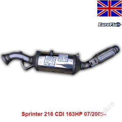 DPF KATALYZÁTOR Sprinter 216/316CDI 163HP 07/2009-
