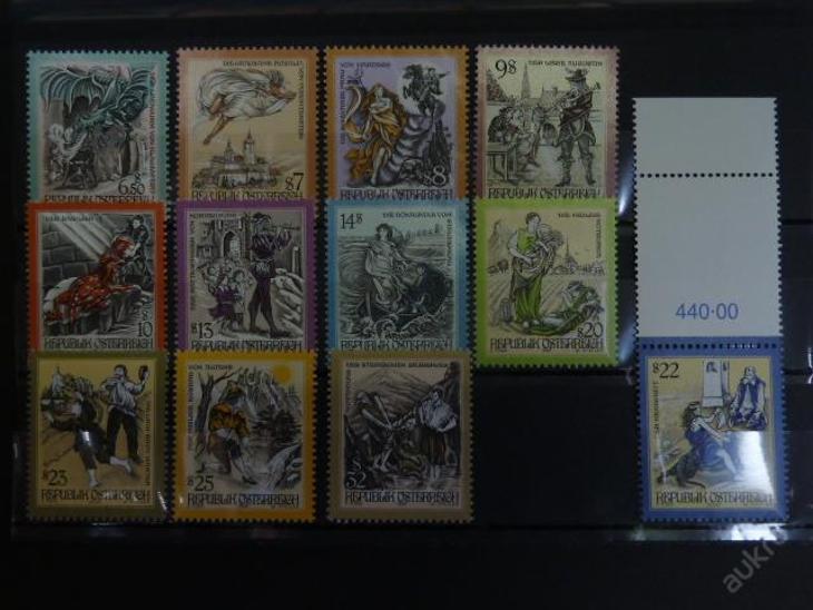 Rakousko kompl. výplatní známky ** 1997 - 2000 - Filatelie