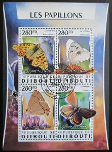 Džibutsko 2016 Motýli Mi# 1034-37 Kat 12€