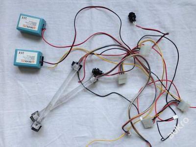 komponenty PC tunning světla blikající