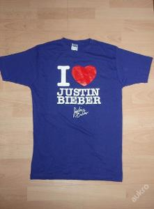 fialové tričko  Justin Bieber vel.S