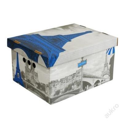 Dekorativní krabice Paris A4 _ úložný box __(2887)