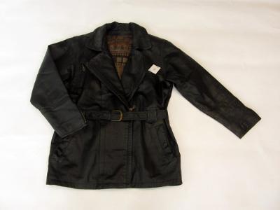 Kožená delší bunda - křivák- zachovalý stav