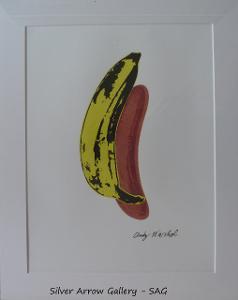 Andy Warhol - Banán - barevná litografie