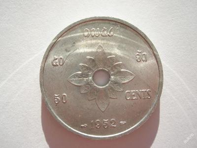 Laos 50 cents 1952