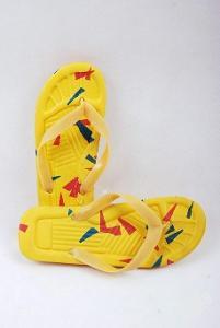 Plážové žabky žluté , vel. 41 ( 0978 )