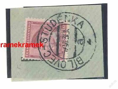 razítko vlaková pošta Bílovec-Studénka 1930