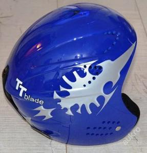Lyžařská helma TT blade modrá  vel. XXS