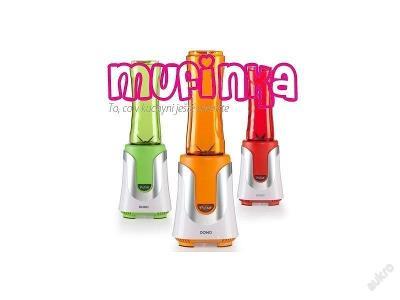DOMO DO435BL Smoothie mixér s 2 lahvemi - 3 barvy