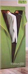 Látková šatní skříň zelená