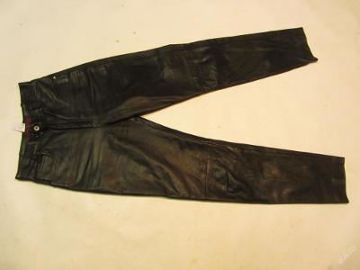 Kožené kalhoty MADDOX vel.36 - obvod pasu: 72 cm