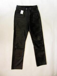 Kožené dámské kalhoty vel. 38 - pas: 68 cm -(751