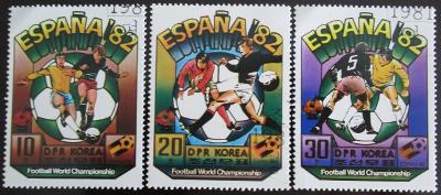 KLDR 1981 MS ve fotbale Mi# 2094-96 0561