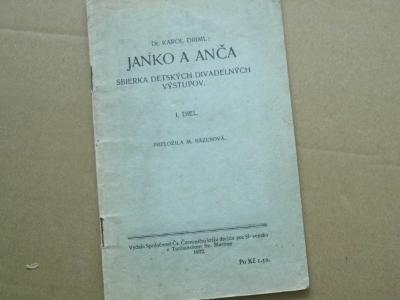 Driml: Janko a Anča, sbierka dětských divadlo 1932