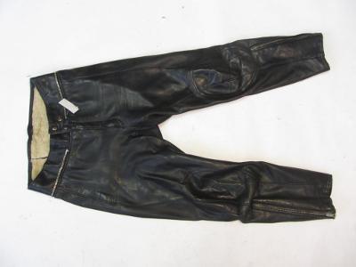 Kožené kalhoty -  obvod pasu: 78cm - 6145