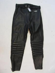 Kožené kalhoty ABS vel. 38 - obvod pasu:72cm- 61