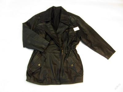 Kožená delší dámská bunda - křivák  vel.36- (692