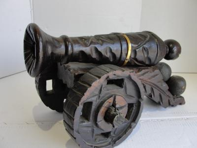 Staré dřevěné dělo, kanon, Španělsko, 40cm!