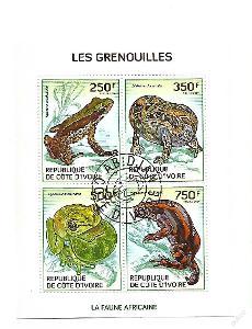 Pobřeží Slonoviny Mi. 1514-17Žáby
