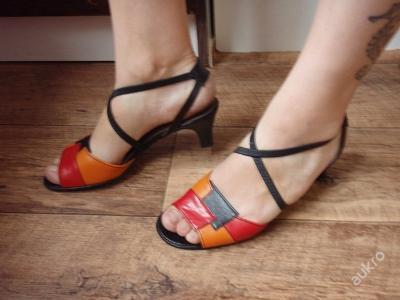 kožené sandály GABOR vel.38 sedí na 37