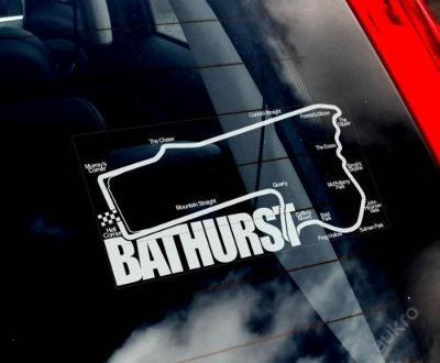 Bathurst - autonálepka na sklo aj. samolepka