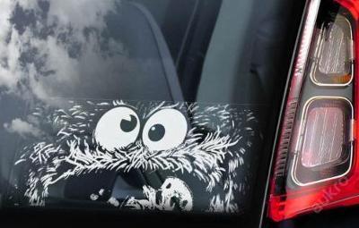 Cookie Monster - autonálepka na sklo aj. samolep