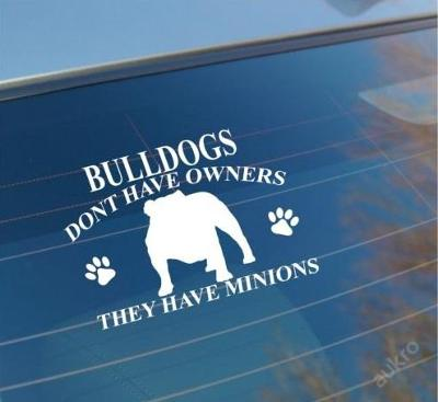 Bulldog - autonálepka na sklo aj. samolepka