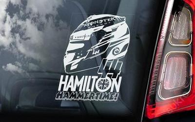 Lewis Hamilton - autonálepka na sklo aj. samolep