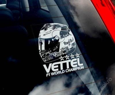 Sebastian Vettel autonálepka na sklo aj. samolep