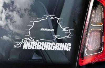 Nurburgring - autonálepka na sklo aj. samolepka