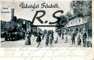 Jesenské 1909 - Rimavská Sobota lokomotiva nádraží , /4201/