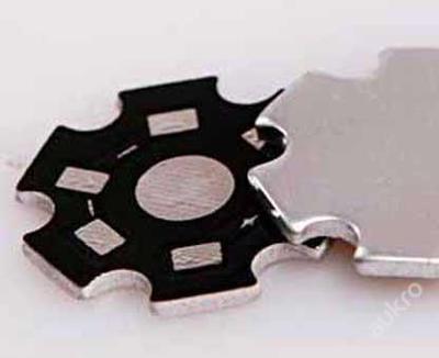 LED chladič pro čip 1W - 3W hliníkový, tl.1mm