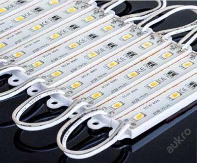 LEDmodul 3x čip 5730 12V 0,75W 60mA teplá bílá