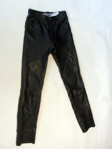 Kožené kalhoty MAX MARY vel. 26 - pas: 64 cm