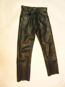 Kožené kalhoty PANTERA - obvod pasu: 72 cm