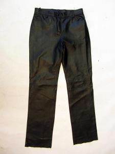 Dámské kožené kalhoty vel. 38 - obvod pasu:80 cm
