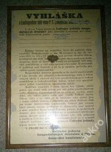 Vyhláška z roku 1925