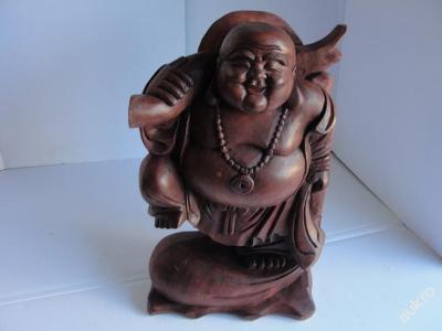 Stará dřevěná socha, Budha 7, Indonésie, 42cm!!!