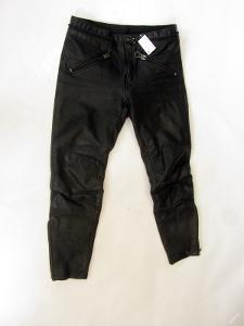 Kožené kalhoty  obvod pasu: 86 cm - (7772)