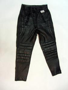 Kožené kalhoty vel. 48/S obvod pasu: 72 cm