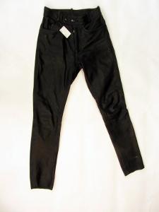 Kožené kalhoty vel.46 obvod pasu: 68 cm (6957)