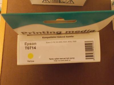 Inkoust ABEL Epson T0714 expirace 04/2012