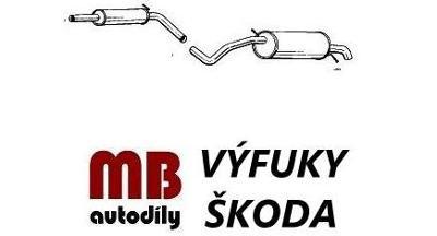 Výfuk ŠKODA FABIA 1,4/16V,  63KW COMBI 2007