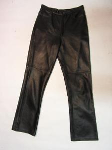Dámské kožené kalhoty - obvod pasu: 74 cm