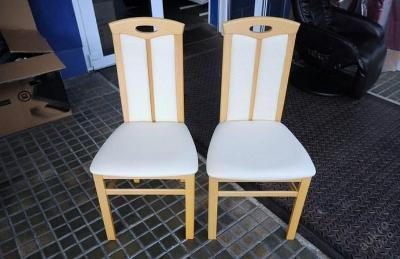 2 x čalouněná židle dřevo/koženka (6243)