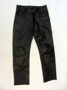 Kožené kalhoty vel. 48 - obvod pasu: 78 cm- (850