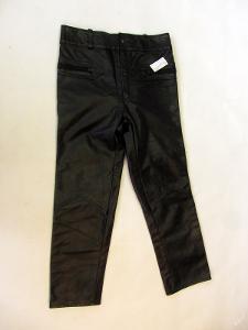 Kožené kalhoty - pas: 84 cm silná kůže