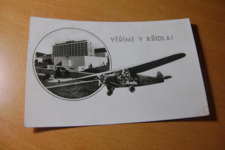 Zlín-Baťa-letadlo-1930 - Pohlednice