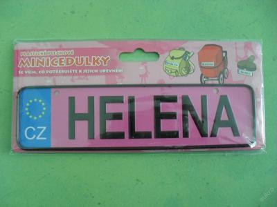 plechová cedulka HELENA